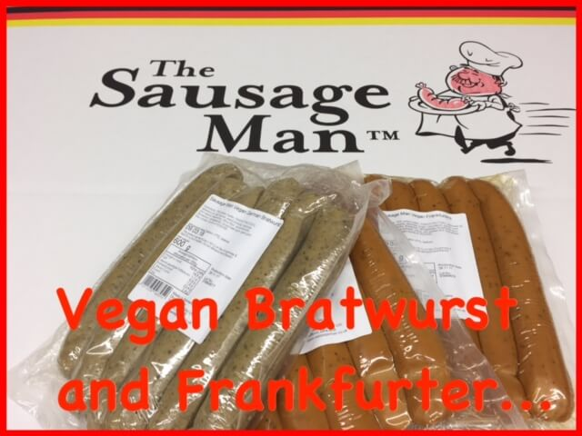 Vegan Bratwurst and Vegan Frankfurter