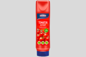 A Squeezy Bottle of Homann Tomato Ketchup