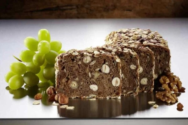 Sliced grape and nut bread
