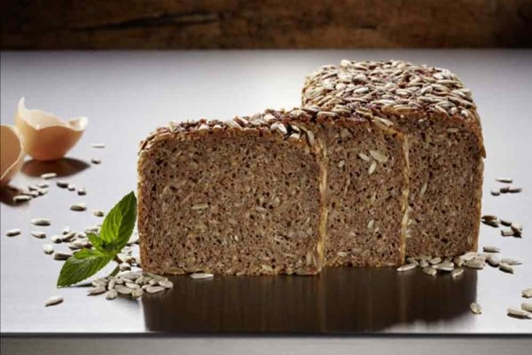 Sliced German Whole Grain Bread with Sunflower Seeds